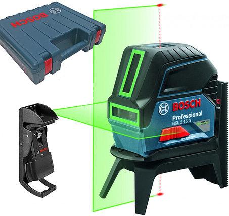 Лазерный уровень, Bosch GCL 2-15 G Professional, 15 м, зеленый лазер, 0 601 066 J00, фото 2