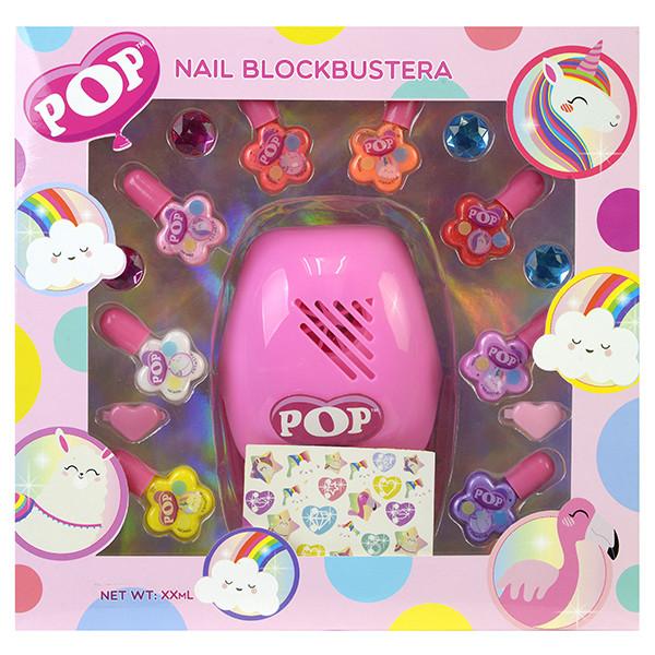Инровой набор детской декоративной косметики для ногтей Pop Girls