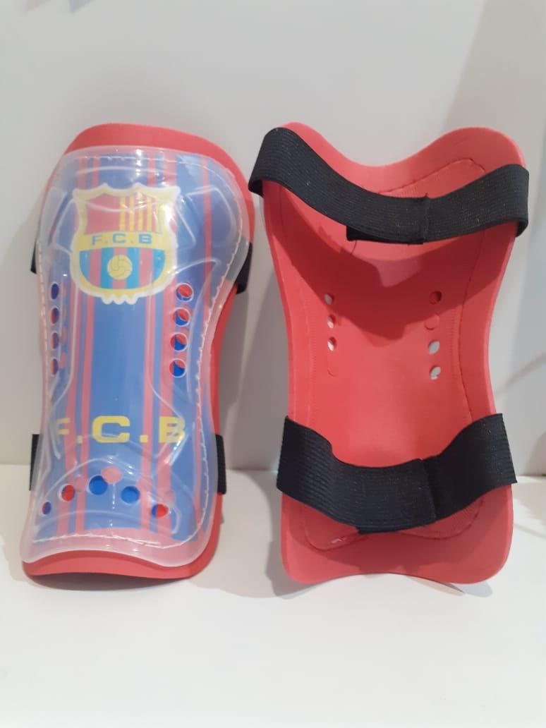Футбольные щитки Barcelona  (цвет синий)