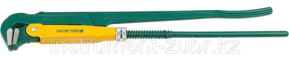 """Ключ KRAFTOOL трубный, тип """"PANZER-L"""", прямые губки, Cr-V сталь, цельнокованный, 2""""/560мм"""
