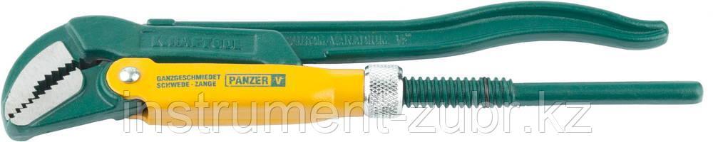 """Ключ KRAFTOOL трубный, рычажный, тип """"PANZER-V"""", изогнутые губки, цельнокованный, Cr-V сталь, 1/2""""/250мм"""