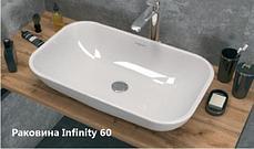 Столешница с раковиной GRUNGE LOFT 80 см.  Серый бетон. (Раковина круглая и прямоугольная), фото 3