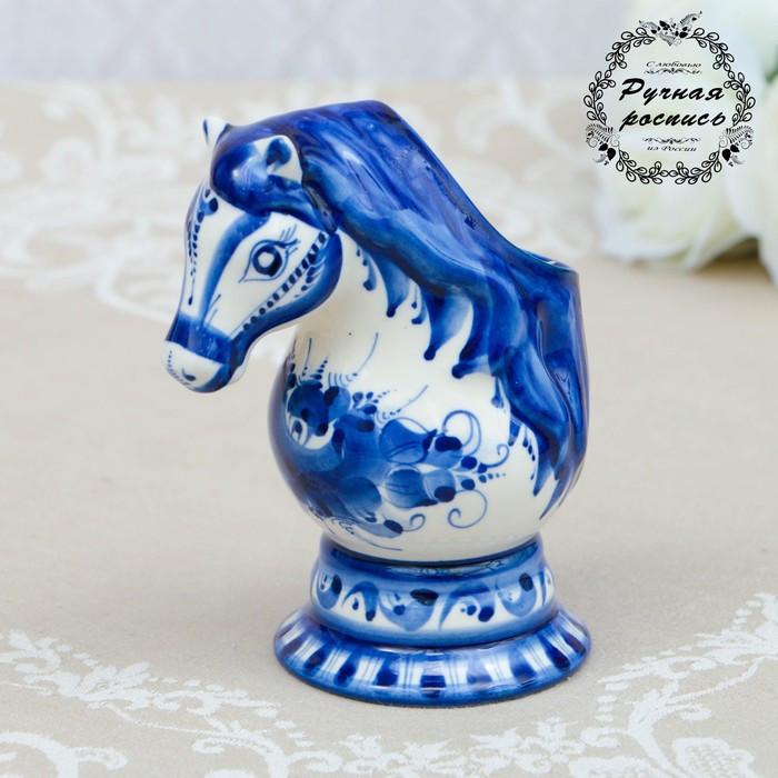 """Салфетница """"Лошадь"""", гжель, фарфор, 15х12 см"""