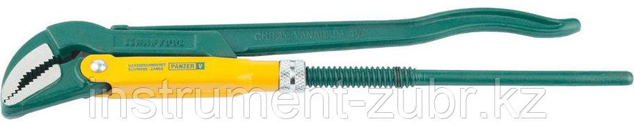 """Ключ KRAFTOOL трубный, рычажный, тип """"PANZER-V"""", изогнутые губки, цельнокованный, Cr-V сталь, 1 1/2""""/440мм, фото 2"""