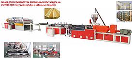 Линия для производства вспененных плит из ДПК на основе ПВХ (плит для опалубки и мебельных панелей)