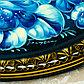 """Поднос жостовский """"Гжель"""", ровный, автор Плищенко, D=32 см, средний, круг, фото 4"""