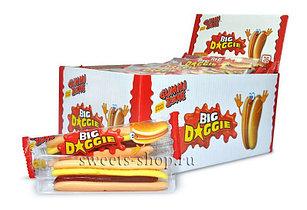 Мармелад Большой Хот-Дог Hot Dog 32гр  (Big Daggie)  (36шт-упак)