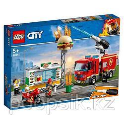 LEGO City Город Пожарные: Пожар в бургер-кафе конструктор ЛЕГО
