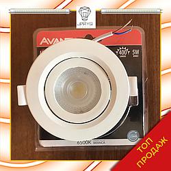 Спот потолочный светодиодный 5 W, 6500K