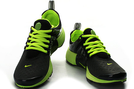 Летние кроссовки Nike Air Presto Summer 2015 черно-зеленые, фото 2