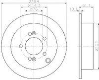 Тормозные диски Optimal Kia Sportage (04-10,задние, Trw, D284)