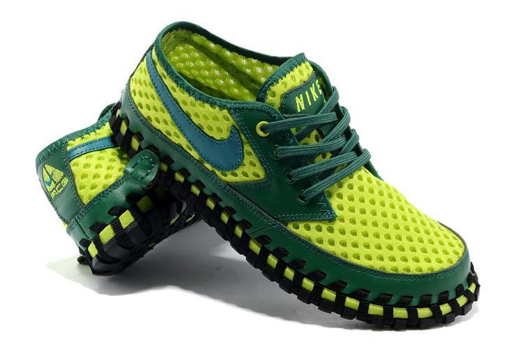 Летние кроссовки ( сандали ) Nike ACG Long сетка , зеленые