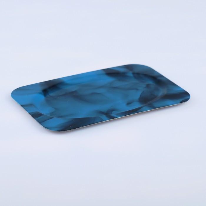 Поднос «Семечко», заготовка под роспись, 12×8 см, синий
