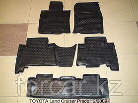 Коврики Novline в салон  Land Cruiser Prado 150 2009-2012 ,7 мест, фото 2