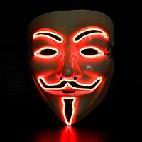"""Светящиеся маска """"Гая Фокса"""" красная., фото 1"""
