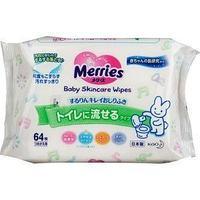Merries Салфетки влажные детские Merries Baby Skincare wipes, 64шт/уп.