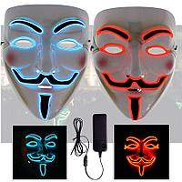 "Светящиеся маска ""Гая Фокса"" синяя., фото 1"