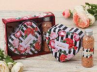"""Подарочный набор """"Самой лучшей мамочке"""": шкатулка-сердце+жемчуг для ванны"""