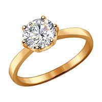 Серебряное кольцо с фианитом SOKOLOV (93010536)