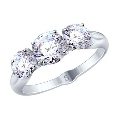 Серебряное кольцо с фианитом SOKOLOV (94012675)