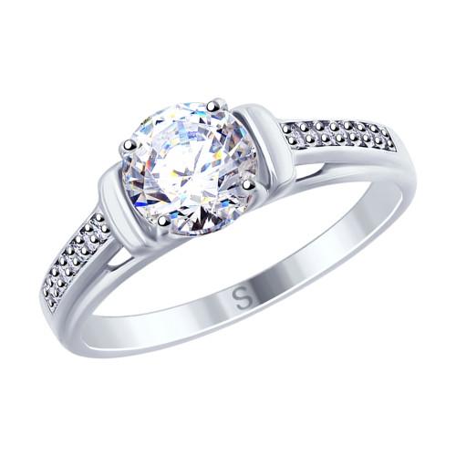 Серебряное кольцо с фианитом SOKOLOV (94012692)