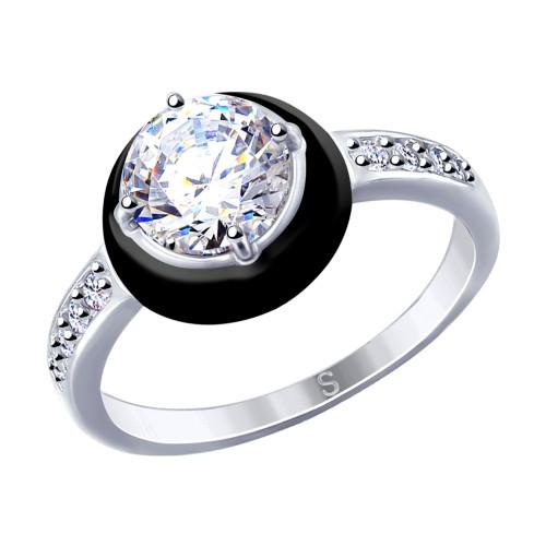 Серебряное кольцо с фианитом SOKOLOV (94012728)