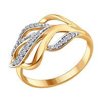 Серебряное кольцо с фианитом SOKOLOV (93010680)