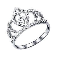Серебряное кольцо с фианитом SOKOLOV (94011216)