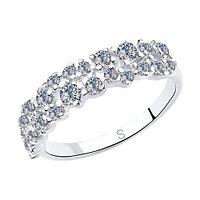 Серебряное кольцо с фианитом SOKOLOV (94012971)