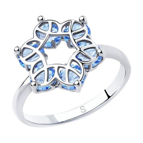 Серебряное кольцо с фианитом SOKOLOV (94012990)