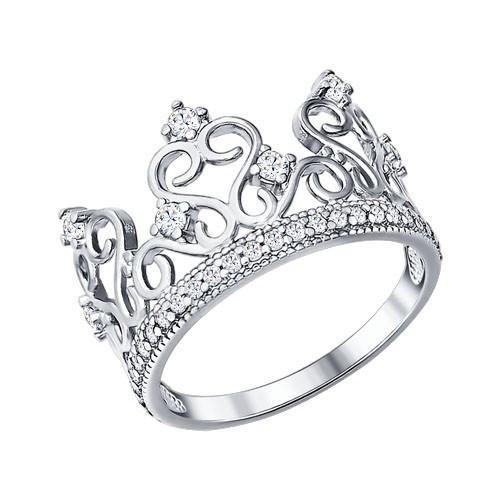 Серебряное кольцо с фианитом SOKOLOV (94011217)