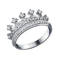 Серебряное кольцо с фианитом SOKOLOV (94011218)