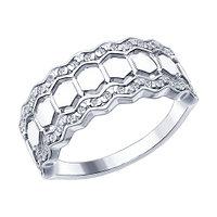 Серебряное кольцо с фианитом SOKOLOV (94012406)