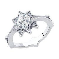 Серебряное кольцо с фианитом SOKOLOV (94013076)