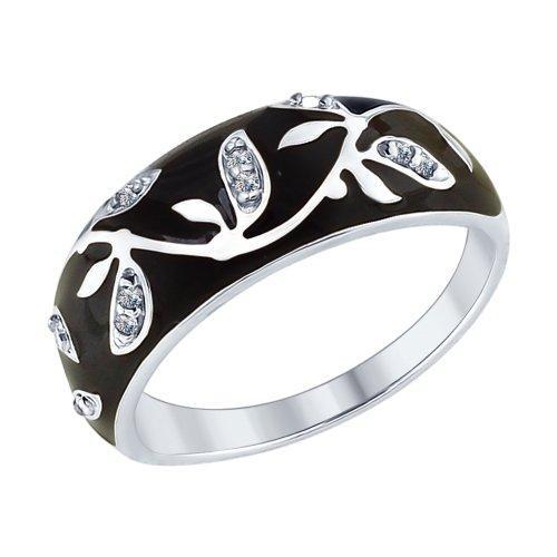 Серебряное кольцо с фианитом SOKOLOV (94012594)