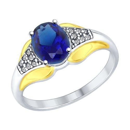 Серебряное кольцо с фианитом SOKOLOV (88010045)