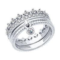 Серебряное кольцо с фианитом SOKOLOV (94012405)
