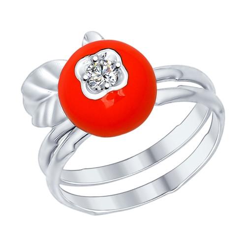 Серебряное кольцо с фианитом SOKOLOV (94012193)