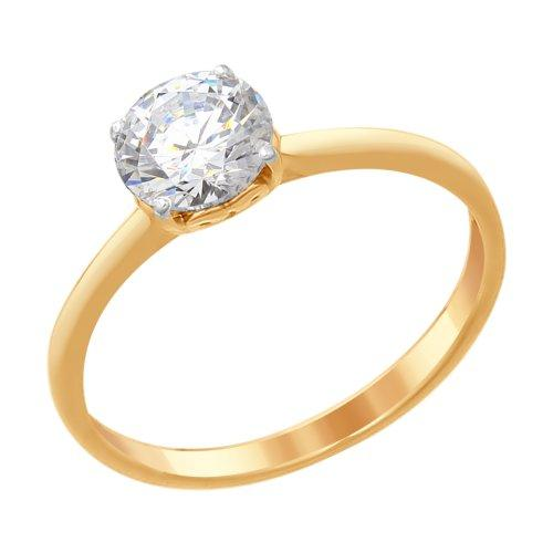 Серебряное кольцо с фианитом Swarovski SOKOLOV (89010082)