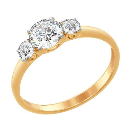 Серебряное кольцо с фианитом Swarovski SOKOLOV (89010079)