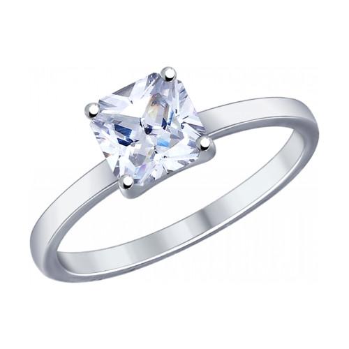 Серебряное кольцо с фианитом Swarovski SOKOLOV (89010032)