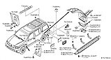 Наклейки на рейлинги Nissan Pathinder R51 2005-, фото 2