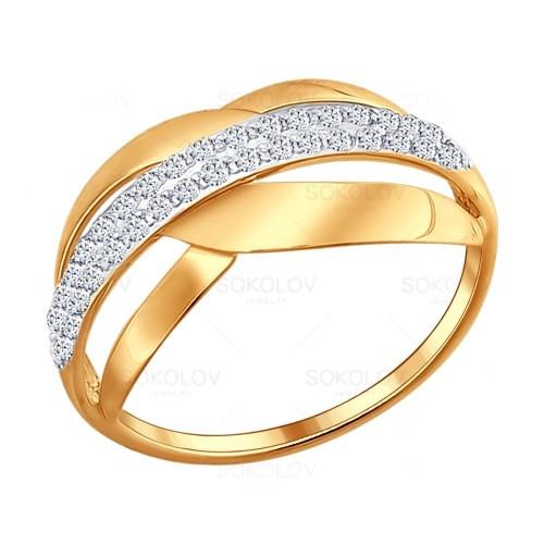 Серебряное кольцо с фианитом SOKOLOV (93010496)