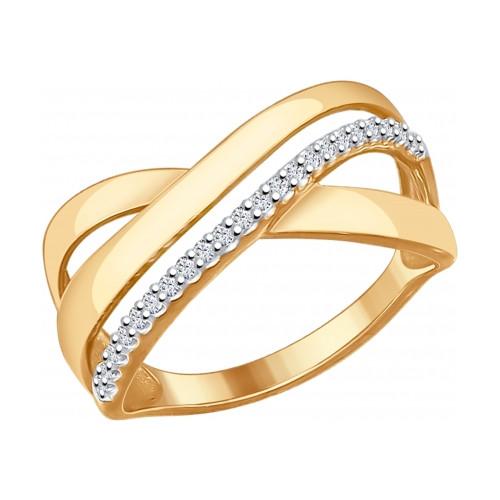 Серебряное кольцо с фианитом SOKOLOV (93010580)