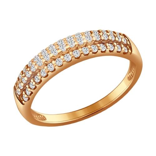 Серебряное кольцо с фианитом SOKOLOV (93010524)