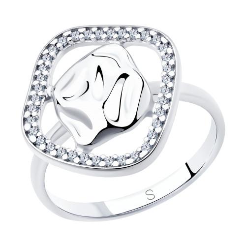 Серебряное кольцо с фианитом SOKOLOV (94013080)