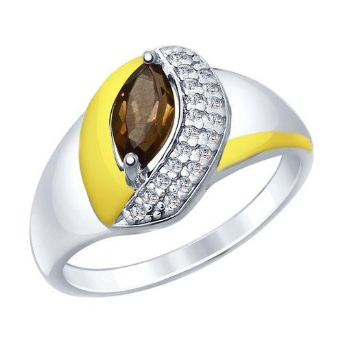 Серебряное кольцо с фианитом SOKOLOV (92011451)