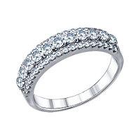 Серебряное кольцо с фианитом SOKOLOV (94011270)