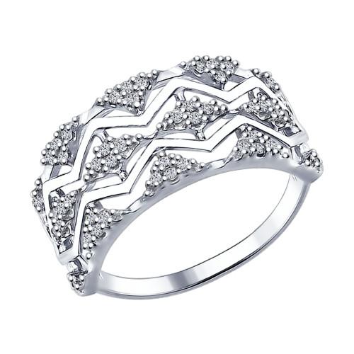 Серебряное кольцо с фианитом SOKOLOV (94012264)