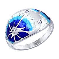Серебряное кольцо с фианитом SOKOLOV (94012552)